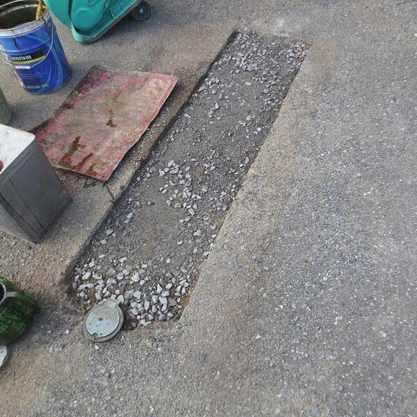 13 砕石埋戻し路盤形成
