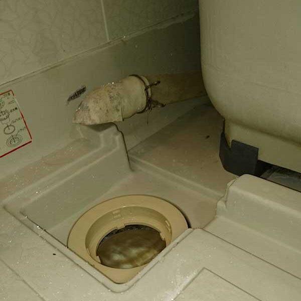 5 浴室排水調査 浴槽の排水ホースとトラップ