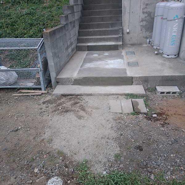 8 完了(アパート側、旧浄化槽付近)