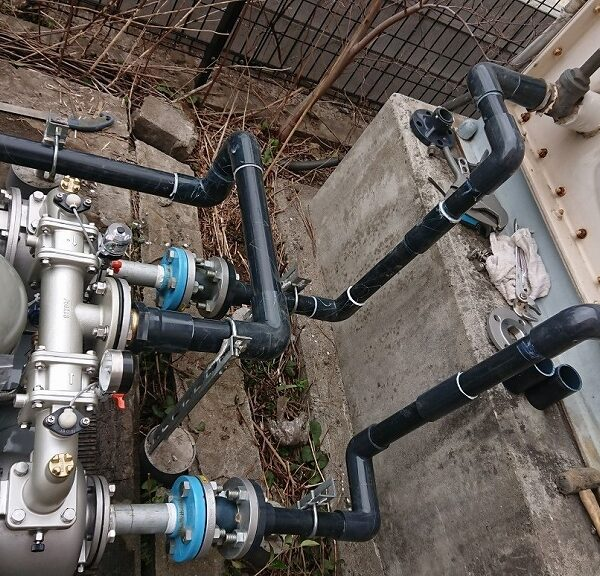 6 新品ポンプ設置及び配管工事後