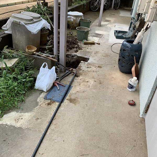 2 施工中 コンクリート斫り工