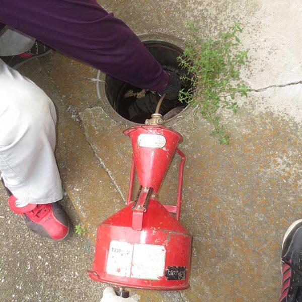 3 トーラ使用 排水溜桝より洗浄
