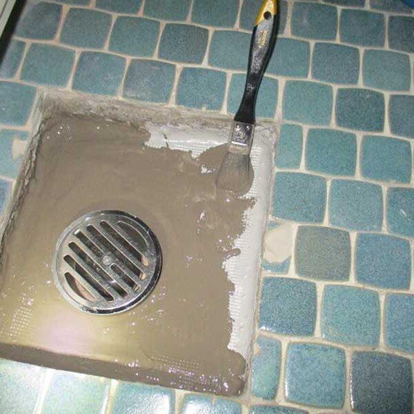 11 捨てコンクリートの上に防水層塗布