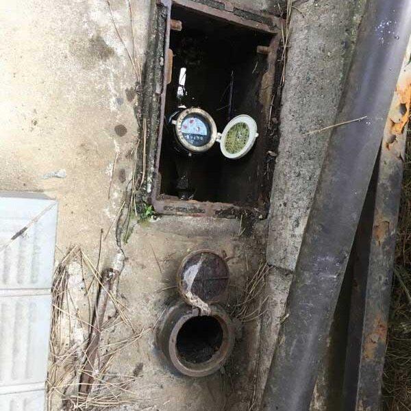 1 水道メーター付近での漏水