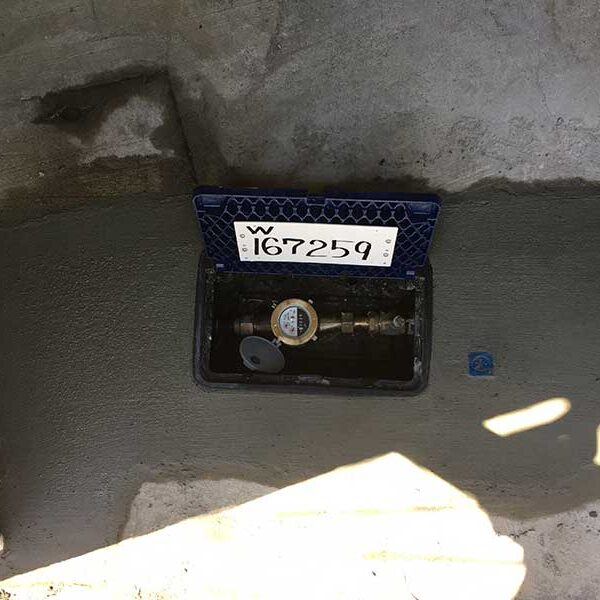 8 水道メーター取付 メーターボックス回りコンクリ復旧