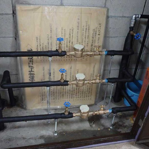 3 県水メーター交換及び保温工完了