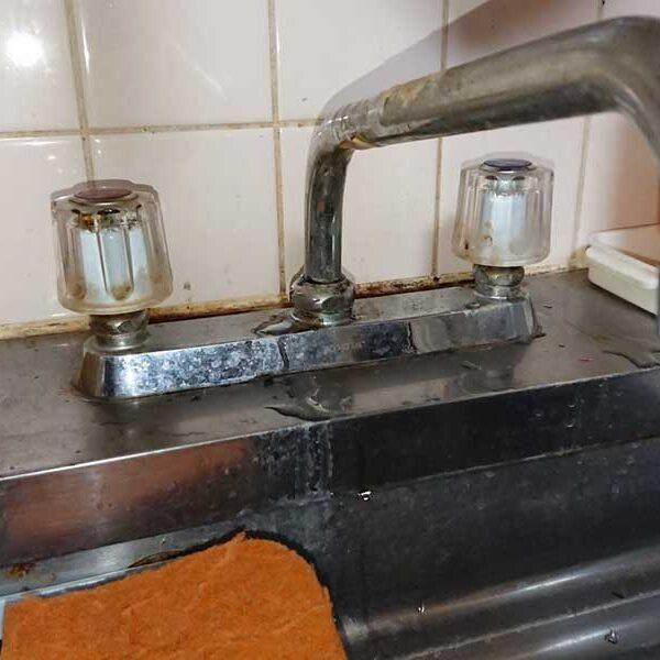 台所用水栓交換前