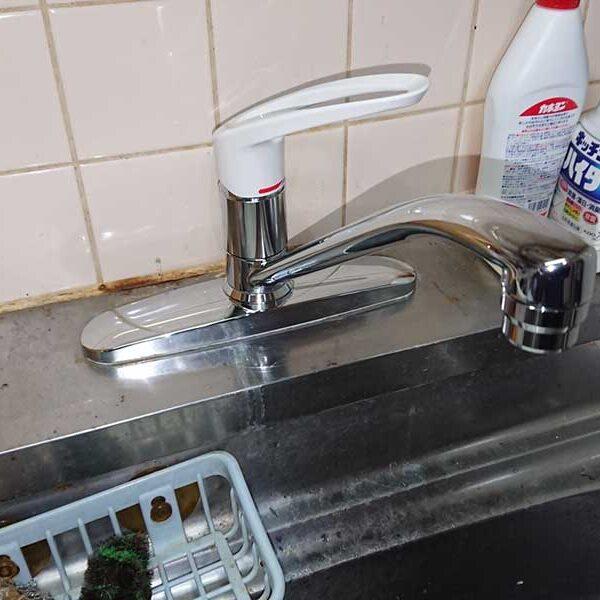 台所用水栓交換完了