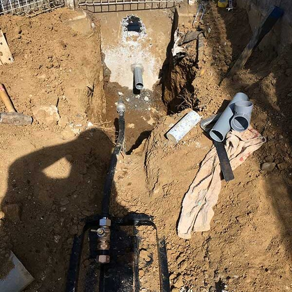 2 外水道排水U字溝へ布設
