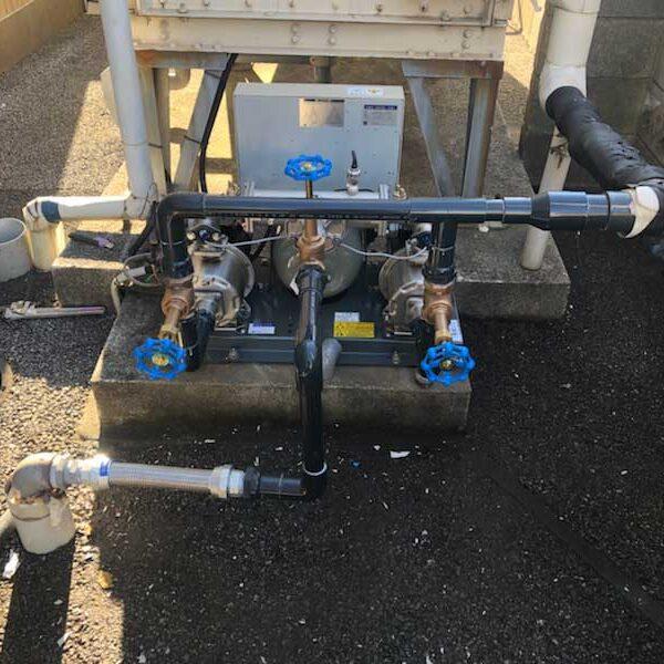 4 給水ポンプ取付及び配管工事完了