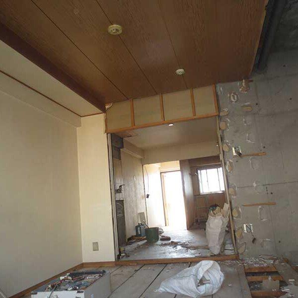 1 マンションフルリフォームによる壁及び床・天井解体