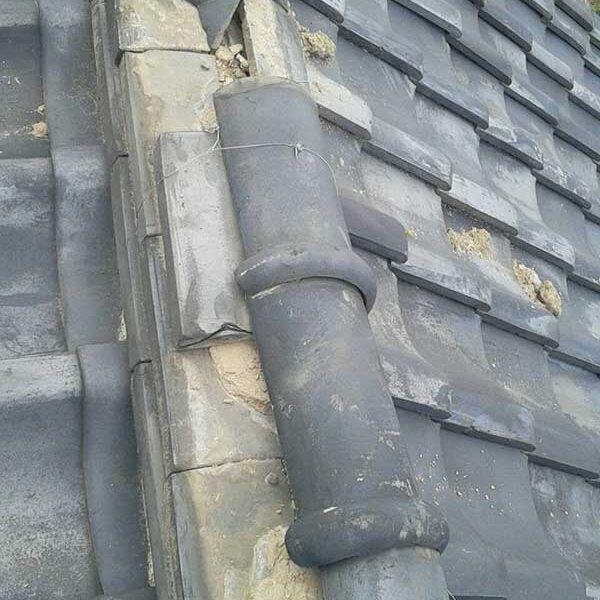 6 台風により瓦屋根破損状況