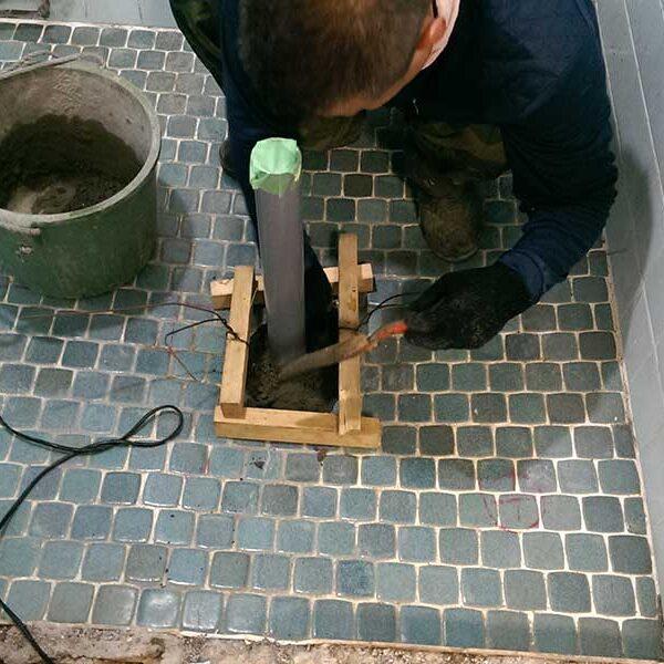 1 排水管廻りコンクリート打設