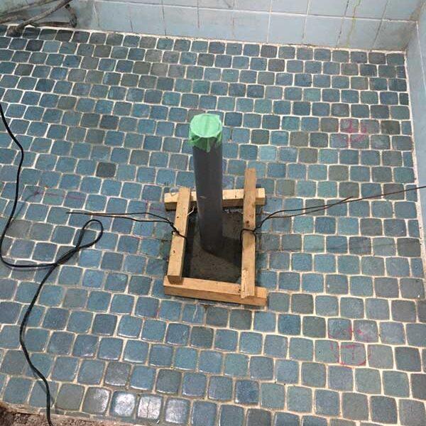 2 排水管廻りコンクリート打設