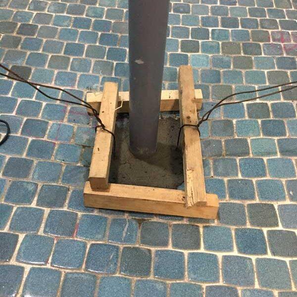3 排水管廻りコンクリート打設