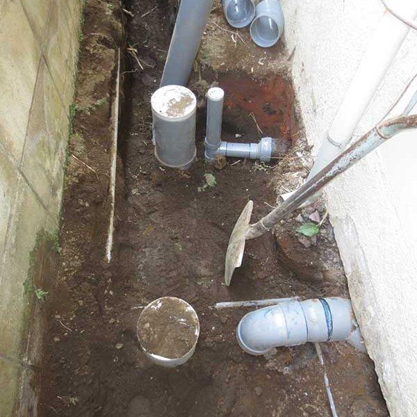 7 浄化槽埋戻し新設排水管取付(浴室・トイレ)
