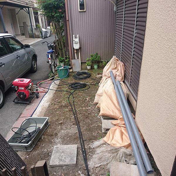 10 排水管清掃 準備作業