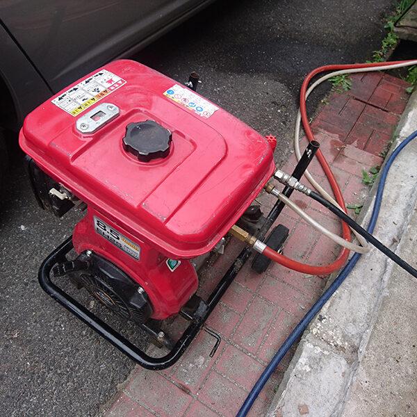 11 排水管清掃 高圧洗浄機使用