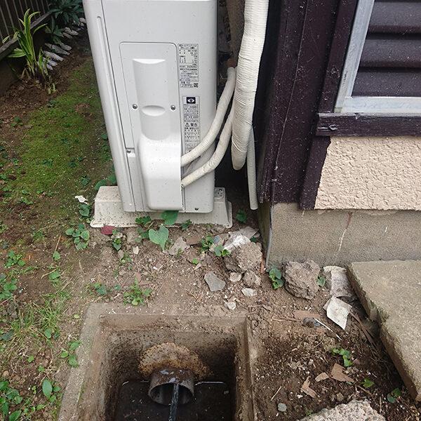 14 排水管清掃 浴室の排水管側